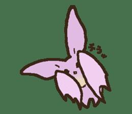 Japanese long-eared bat sticker #15610586