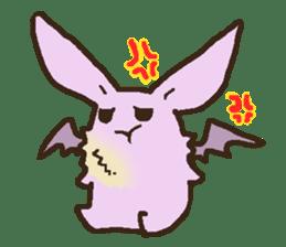 Japanese long-eared bat sticker #15610591