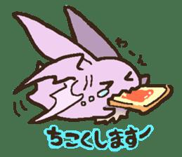 Japanese long-eared bat sticker #15610595