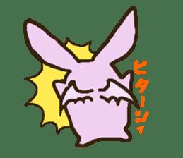 Japanese long-eared bat sticker #15610596