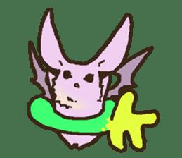 Japanese long-eared bat sticker #15610598