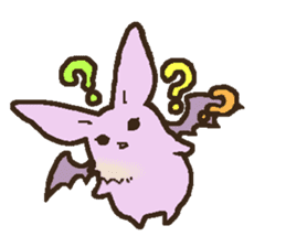 Japanese long-eared bat sticker #15610601