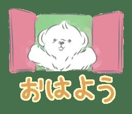 Polar bear talking sticker #15610938