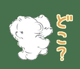 Polar bear talking sticker #15610945