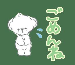 Polar bear talking sticker #15610948