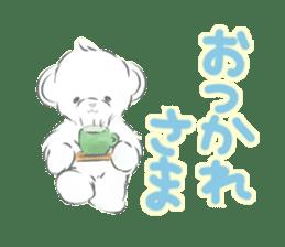 Polar bear talking sticker #15610952