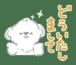 Polar bear talking sticker #15610954