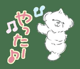 Polar bear talking sticker #15610965