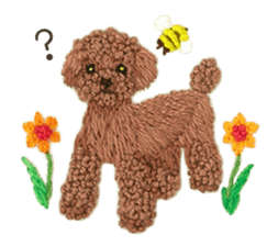 Embroidery of cute animals3 sticker #15623793