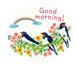Embroidery of cute animals3 sticker #15623804