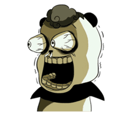 Scary Panda Kibo sticker #15627010