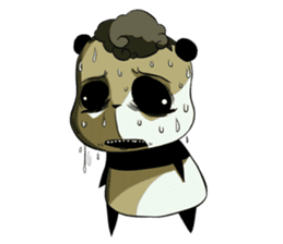 Scary Panda Kibo sticker #15627012