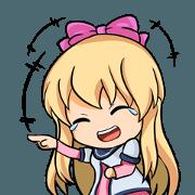 สติ๊กเกอร์ไลน์ I - Lunatic Momo School Girl 48 Indo