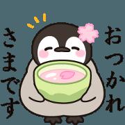 สติ๊กเกอร์ไลน์ healing penguin(spring ver.)