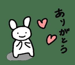 A relaxing white rabbit sticker #15646522