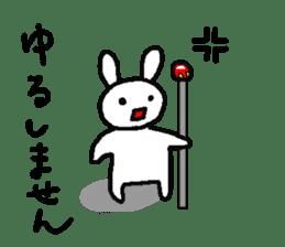 A relaxing white rabbit sticker #15646530