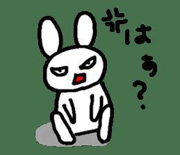 A relaxing white rabbit sticker #15646534