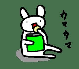A relaxing white rabbit sticker #15646540