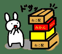 A relaxing white rabbit sticker #15646546