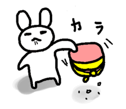 A relaxing white rabbit sticker #15646550