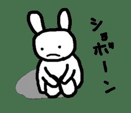 A relaxing white rabbit sticker #15646552