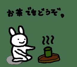 A relaxing white rabbit sticker #15646559