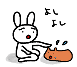 A relaxing white rabbit sticker #15646565