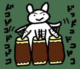 A relaxing white rabbit sticker #15646571