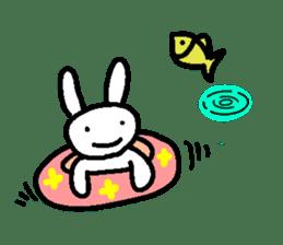 A relaxing white rabbit sticker #15646577
