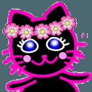 สติ๊กเกอร์ไลน์ Pinky Blackcat 4