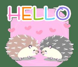 Healed cute hedgehog sticker #15657347