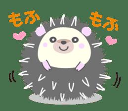 Healed cute hedgehog sticker #15657348