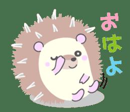 Healed cute hedgehog sticker #15657350