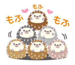 Healed cute hedgehog sticker #15657351