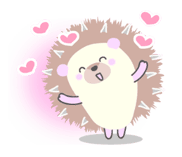 Healed cute hedgehog sticker #15657354