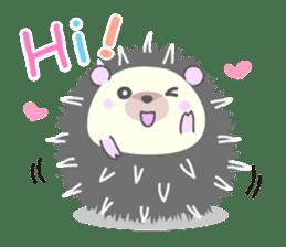 Healed cute hedgehog sticker #15657359