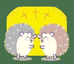 Healed cute hedgehog sticker #15657362
