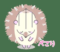 Healed cute hedgehog sticker #15657364