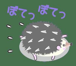 Healed cute hedgehog sticker #15657367