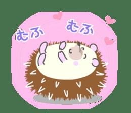 Healed cute hedgehog sticker #15657370