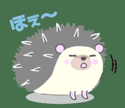 Healed cute hedgehog sticker #15657374