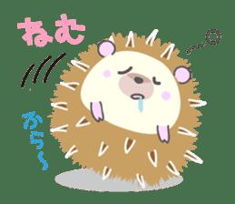 Healed cute hedgehog sticker #15657375
