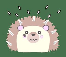 Healed cute hedgehog sticker #15657376