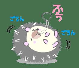 Healed cute hedgehog sticker #15657377