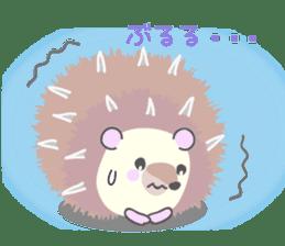 Healed cute hedgehog sticker #15657378