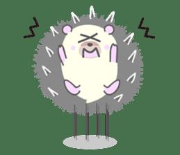 Healed cute hedgehog sticker #15657380