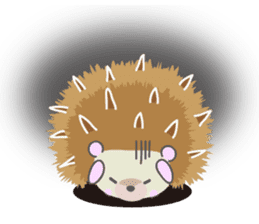 Healed cute hedgehog sticker #15657382