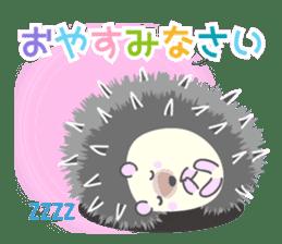 Healed cute hedgehog sticker #15657384