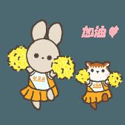 สติ๊กเกอร์ไลน์ good days of usako 2(ver.Chinese)