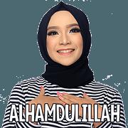 สติ๊กเกอร์ไลน์ The Monochrome Hijab Style Enthusiast v1